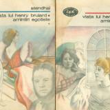 Stendhal - Viata lui Henry Brulard. Amintiri egotiste - vol.1 + vol.2 (1322 - 1323) - 26193 - Roman, Anul publicarii: 1989
