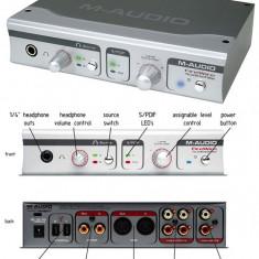 Placa sunet externa m-audio/ interfata audio audiophile m-audio