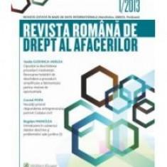 Revista Romana de Drept al Afacerilor 1/2013 - 10211 - Carte Legislatie