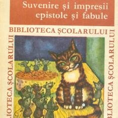 Grigore Alexandrescu - Suvenire si impresii epistole si fabule - 25987 - Roman, Anul publicarii: 1969