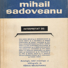 Fanus Bailesteanu - Mihail Sadoveanu - 19031 - Carte Antologie