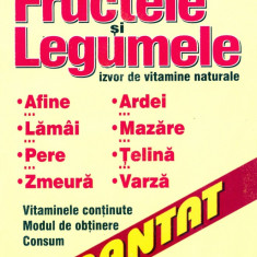 Florentina Pavel - Fructele si legumele - izvor de vitamine naturale - 4513 - Carte Alimentatie