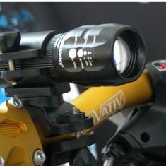 Suport montare lampa frontala bicicleta, suport lanterna bicicleta