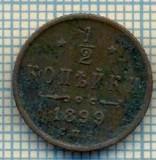 5426 MONEDA - RUSIA- 1/2 KOPEK -ANUL 1899 -starea care se vede