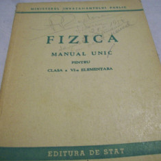 Fizica-manual unic-cl. a-VI-a elementara-1950 - Manual auto