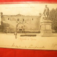 Ilustrata clasica Torino 1901 , stampila Goarna 151 , Italia