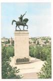 % carte postala (ilustrata) -SUCEAVA -Statuia lui Stefan cel Mare, Necirculata, Printata