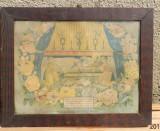 Icoana veche litografie mormantul fecioarei Maria