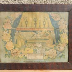 Icoana veche litografie mormantul fecioarei Maria - Icoana litografiate