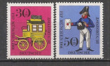 GERMANIA 1966 – POSTALION SI UNIFORMA POSTAS, serie nestampilata, N6, Nestampilat