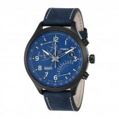 Ceas Timex Intelligent Quartz Fly-Back Chronograph Leather Strap Watch   100% originali, import SUA, 10 zile lucratoare - Ceas barbatesc