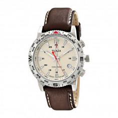 Ceas Timex Intelligent Quartz Adventure Series Compass Leather Strap Watch   100% originali, import SUA, 10 zile lucratoare - Ceas barbatesc