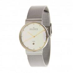 Ceas Skagen 355LGSC Two-Tone Mesh Band Watch | 100% originali, import SUA, 10 zile lucratoare - Ceas barbatesc Skagen, Lux - sport