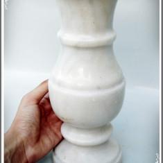 VAZĂ ROMÂNEASCĂ FOARTE MARE ȘI VECHE CONFECȚIONATĂ DIN MARMURĂ MASIVĂ - 5 KG! - Arta din Sticla
