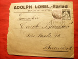 Plic cu Antet Adolph Lobel - Barlad - Depozit Cherestea 1925
