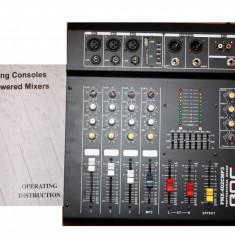 PROMO.MIXER AMPLIFICAT 500WATT, 4IESIRI, MP3 PLAYER USB, EFECTE VOCE, EGALIZATOR.NOU - Mixer audio