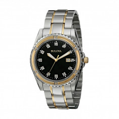 Ceas Bulova Mens Diamond - 98D122 | 100% originali, import SUA, 10 zile lucratoare - Ceas barbatesc Bulova, Lux - sport