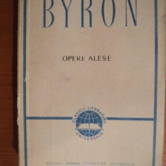 OPERE ALESE de BYRON - Roman