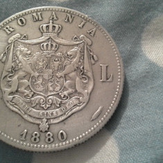 5 LEI 1880 FRUMOS/5 - Moneda Romania