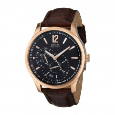 Ceas GUESS U10627G1 Dress Dial Leather Strap Watch   100% originali, import SUA, 10 zile lucratoare - Ceas barbatesc