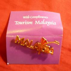 Insigna Turistica Malaysia, metal si email