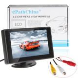 Monitor auto LCD 4.3 inch pentru camera video marsarier DVD