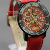 Ceas Automatic Goer Barbati AVIATOR Red Edition CEL MAI MIC PRET - Ceas barbatesc Goer, Mecanic-Automatic, Piele ecologica