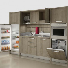 Mini Bucatarie cu dulapuri suspendate - Bucatarie modulara