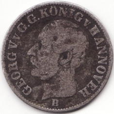 Regatul Hanovra - 1/12 Thaler 1853 - Argint