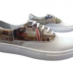 Pantofi sport dama piele naturala Bit-1655 bej - Adidasi dama Bit Bontimes, Marime: 37