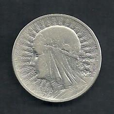 POLONIA 2 ZLOTI ZLOTE 1933, Ag 4.34 g [2] Regina Jadwiga, Livrare in cartonas, Europa, Argint
