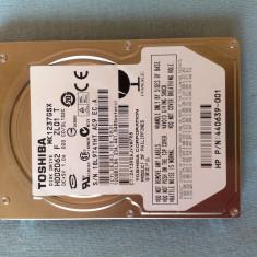 Hard disk Toshiba 2,5' SATA 120g TOSHIBA MK1237GSX (HDD2D62)  -  DEFECT, 100-199 GB, 5400, SATA2