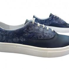 Pantofi sport dama piele naturala Bit-1655 bl - Adidasi dama Bit Bontimes, Culoare: Albastru, Marime: 36
