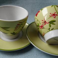 Set 2 cesti ceai/cafea portelan - Luminarec Franta
