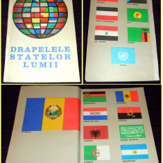 1968 Drapelele statelor lumii, brosura romaneasca ilustrata, steaguri