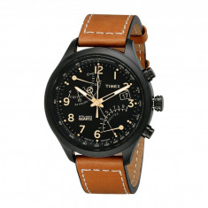Ceas Timex Intelligent Quartz Fly-Back Chronograph Leather Strap Watch | 100% original, import SUA, 10 zile lucratoare - Ceas barbatesc