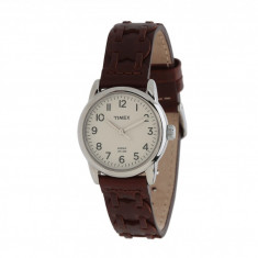 Ceas Timex Weekender Casual Brown Laced Leather Strap Watch | 100% original, import SUA, 10 zile lucratoare - Ceas barbatesc