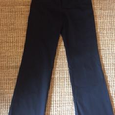 Pantaloni negri de dama Calvin Klein - Pantaloni dama Calvin Klein, Marime: Alta, Culoare: Negru, Lungi, Bumbac