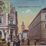 Ok-0954- Romania, Satu Mare, c.p. circ. 1915 TCV: Str.Kazinczy, magazin evreiesc