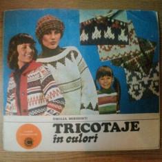 TRICOTAJE IN CULORI de EMILIA MOISESCU, 1984 - Carte Arta populara