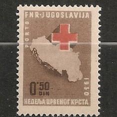 Iugoslavia.1950 Porto-Crucea Rosie SI.878