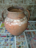 Oala de ceramica saseasca . reducere, Vas ceramic