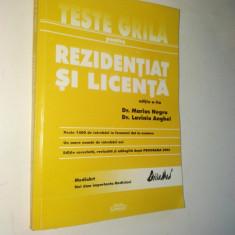 Teste grila pentru rezidentiat si licenta - 2002 Bucuresti