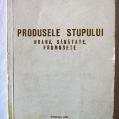 """""""PRODUSELE STUPULUI. HRANA, SANATATE, FRUMUSETE"""", V. Harnaj, APIMONDIA, 1983 - Carte tratamente naturiste"""