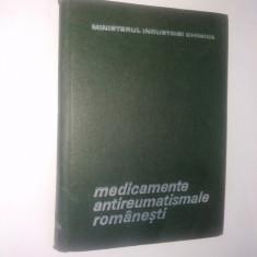 Medicamente antireumatismale romanesti - 1969 - Carte Farmacologie