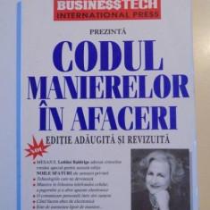 CODUL MANIERELOR IN AFACERI de LETITIA BALDRIGE, EDITIE ADAUGITA SI REVIZUITA - Carte Marketing