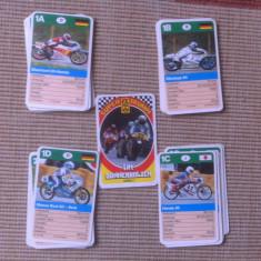 Motociclete cartonase motoare moto carti set de joc super trumpf germany hobby - Cartonas de colectie
