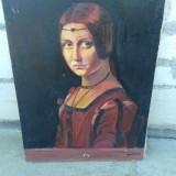 Pictura in ulei pe pinza potret .REDUCERE - Pictor roman, Portrete, Altul