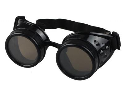 Ochelari STEAMPUNK / Mad Max / Scuter / Motor / Protectie / Sudura - Black foto