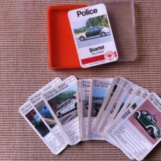 Masini de politie cartonase set carti de joc auto police car jeu de atout hobby - Cartonas de colectie